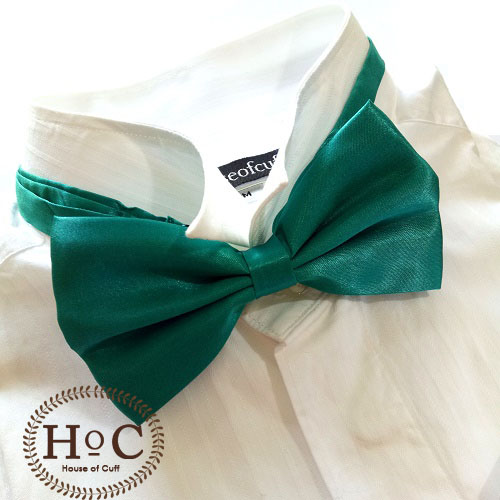 Satin Green Bow Tie