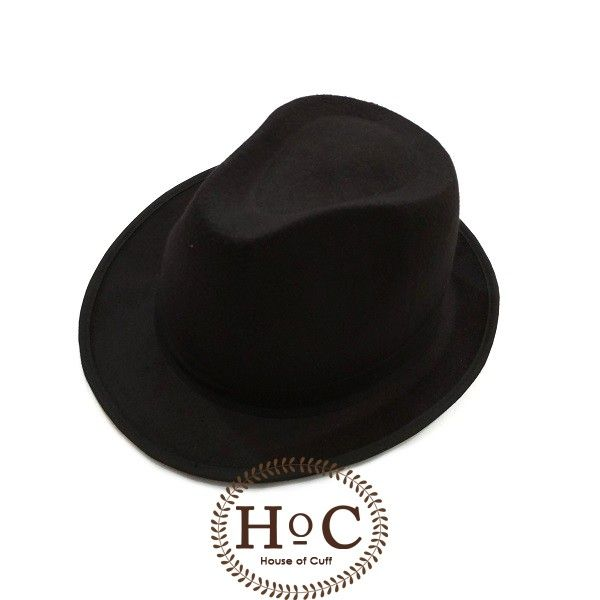 BLACK FEDORA HAT LAKEN