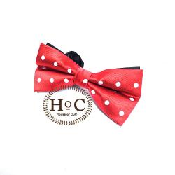 Polka Red Bow