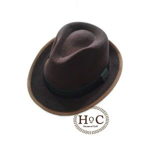 BROWN FEDORA HAT LAKEN